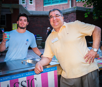 Joseph Galvao and Century Bank give out ice cream at National Night Out on the Prado