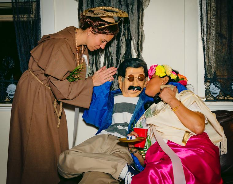 Saint Anthony prays for Santa Lucia and Bernie