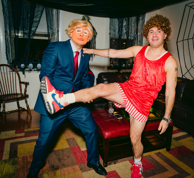 Donald Trump works out with Richard Simmons