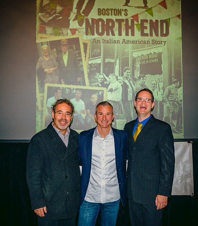 Film creators from the North End Historical Society, (L-R) James Pasto, Stephen Passacantilli and Alex Goldfeld