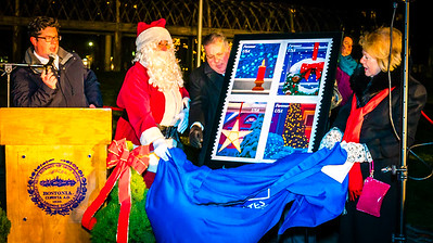U.S. Post Office Holiday Stamp Unveiling