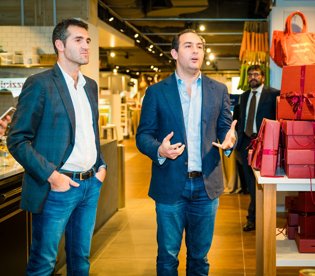 Eataly partners Adam and Alex Saper give a preview to italianissimo attendees