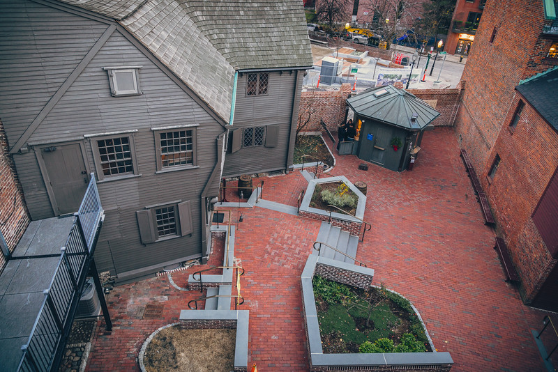Courtyard at the Paul Revere House