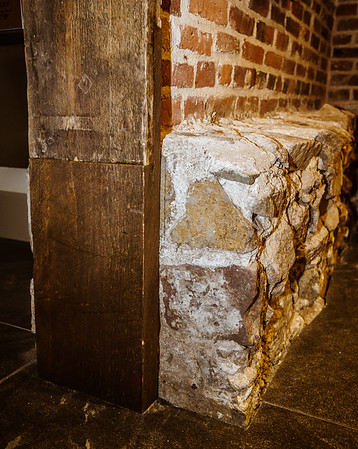 Details such as existing stone walls and door frames were restored