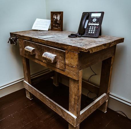 Past resident John Bruni's workbench