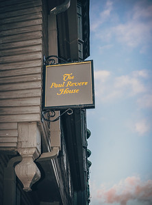 Paul Revere House sign in North Square