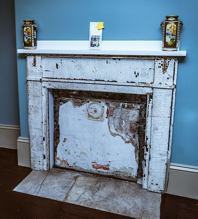 Original fireplace at Lathrop Place