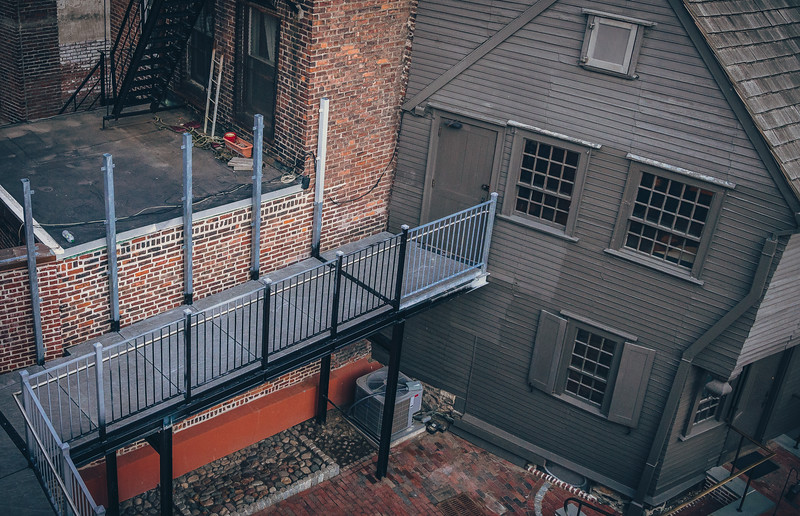 New handicap accessible ramp connects the Paul Revere House with the new Visitor Center