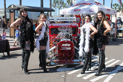 The Violet Vixens performing at the Imperial Beach AutoFest 2016