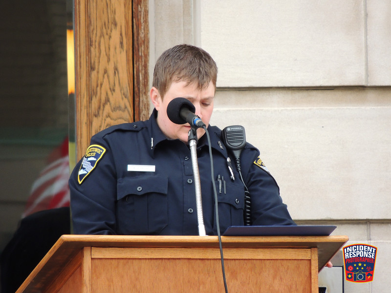The annual Law Enforcement Memorial Ceremony was held outside the Manitowoc County Courthouse in Manitowoc, Wisconsin on Thursday, May 16, 2016. Photo by Asher Heimermann/Incident Response.
