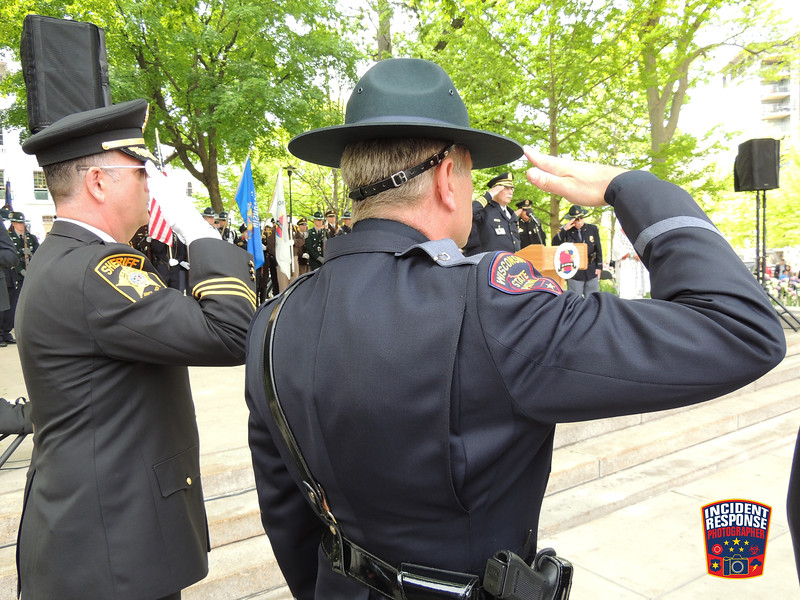 The annual Wisconsin Law Enforcement Memorial Ceremony was held at the Wisconsin State Capitol on Friday, May 20, 2016. Photo by Asher Heimermann/Incident Response.