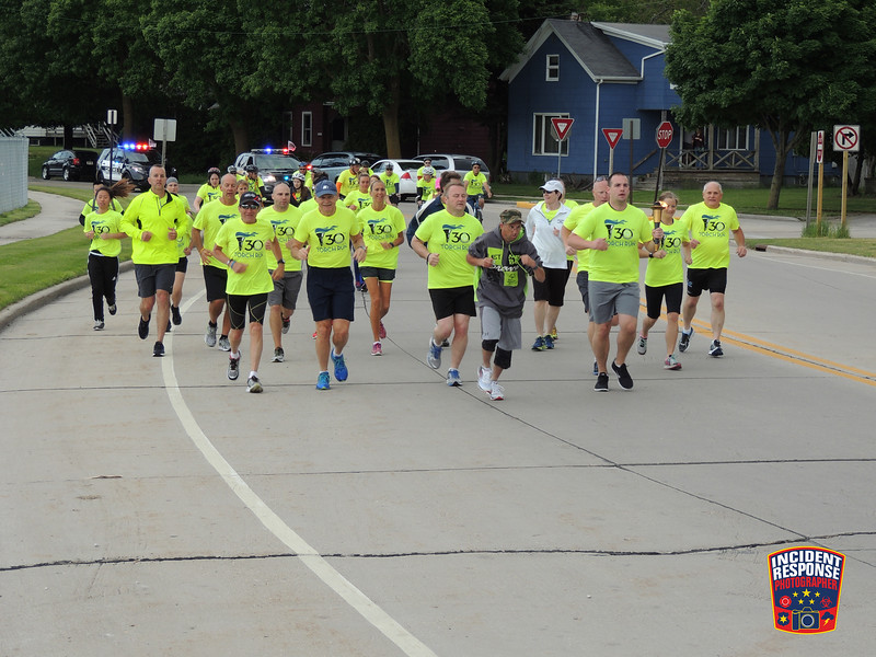The annual Sheboygan County Law Enforcement Torch Run was held on Thursday, June 9, 2016. Photo by Asher Heimermann/Incident Response.