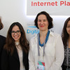 Constance Bommelaer de Leusse, Marilia Maciel, Dr Tereza Horejsova and Roxana Radu at the launching of 'An Introduction to Internet Governance' by Dr Jovan Kurbalija, IGF Mexico, 2017.