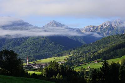 Arriving near Bruneck north of the Dolomites