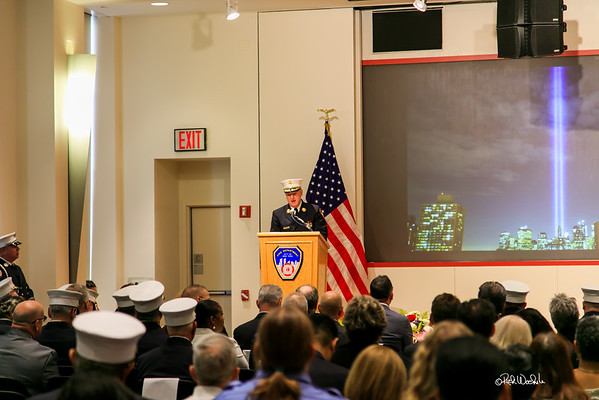 September 11th Memorial Service at FDNY Headquarters