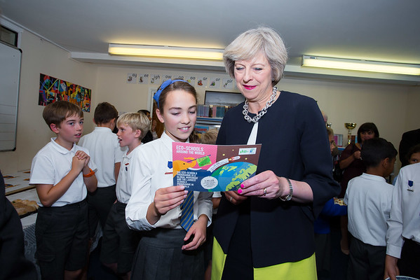 St. Mary's Eco School with Keep Britain Tidy and the Prime Minister