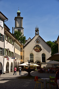 Stopping in Feldkirch for an icecream on the way from Munich to Locarno