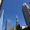 911 Memorial blue sky and buildings April 24, 2016
