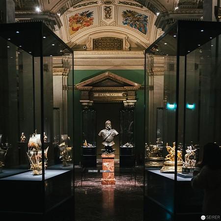 Skulptur Kaiser Rudolf II. von Adriaen de Vries in der Kunstkammer des Kunsthistorischen Museums Wien