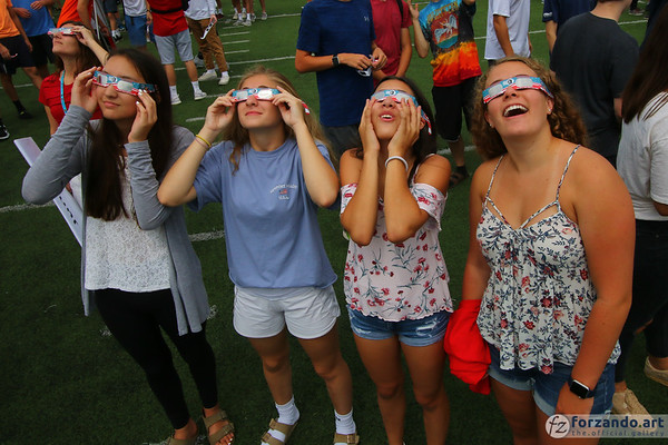 Scoping Out the Solar Eclipse