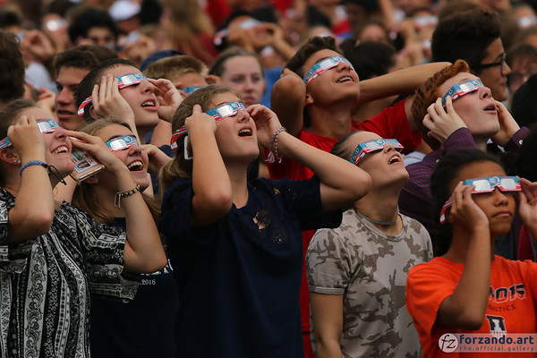 Students Marvel at the Solar Eclipse on August 21, 2017