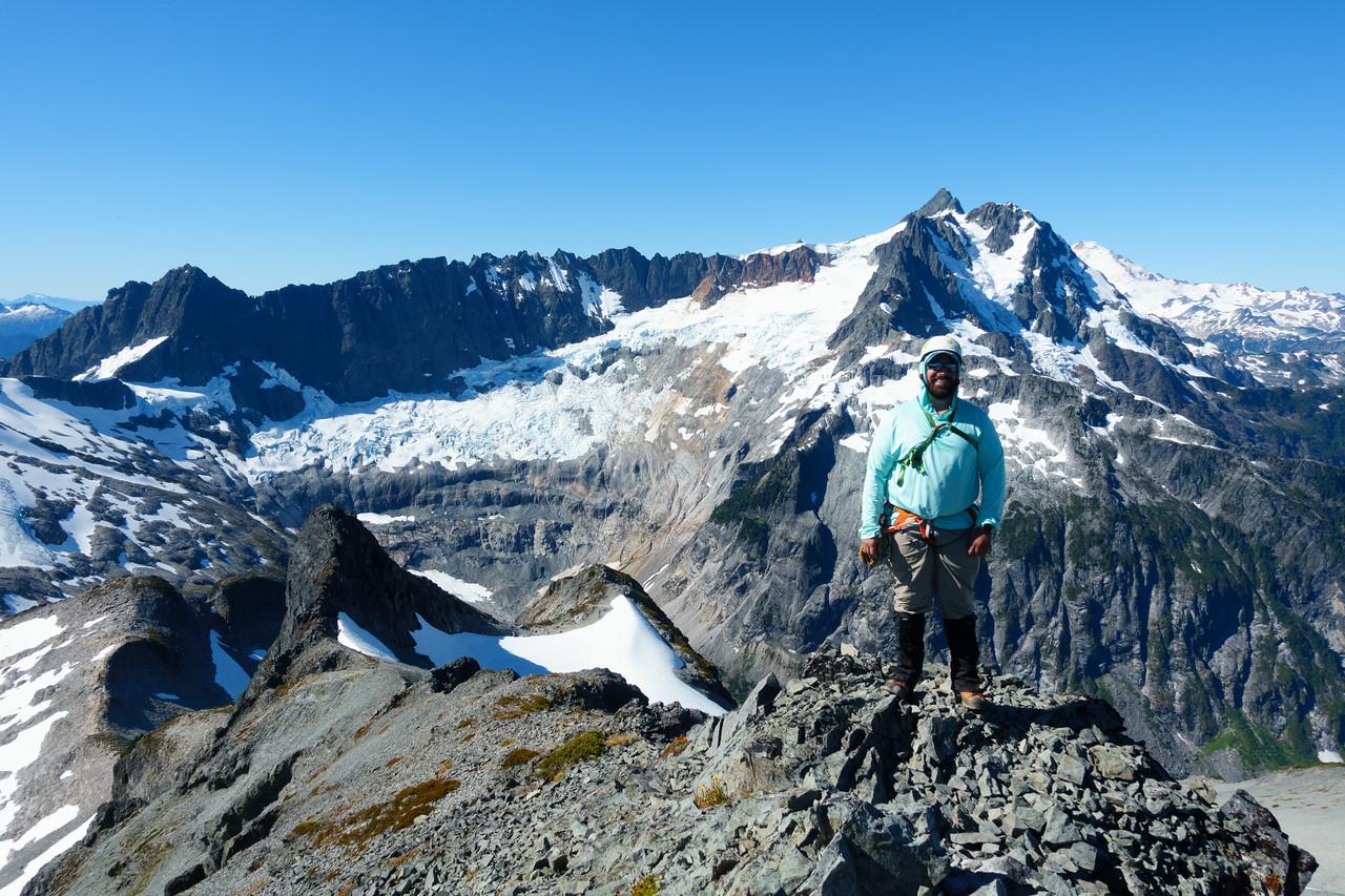 On the summit, looking toward Mt. Shuksan