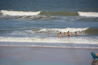 Rough seas beachside.