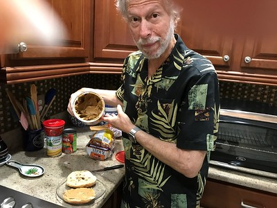 OMG - Larry with peanut butter.