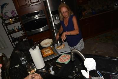 Lynn tries a new recipe.