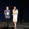 Emcees Terence Huang '20 and Sasha Capers '20