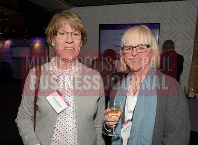 Joanne Michaud (left) and Jean Henjum of Flannery Construction.