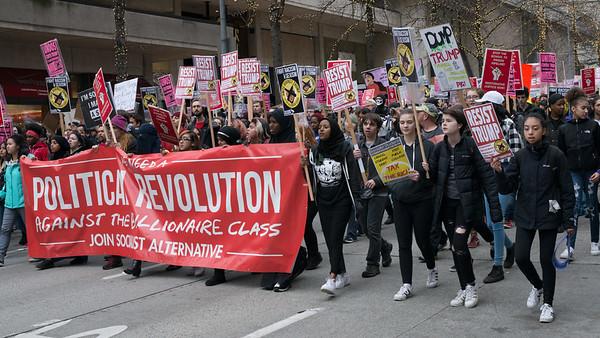 2017 Anti-Trump Protest, Seattle WA