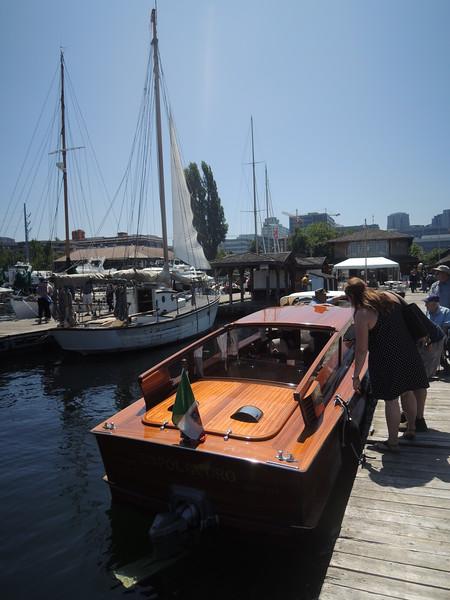 An elegant motorboat