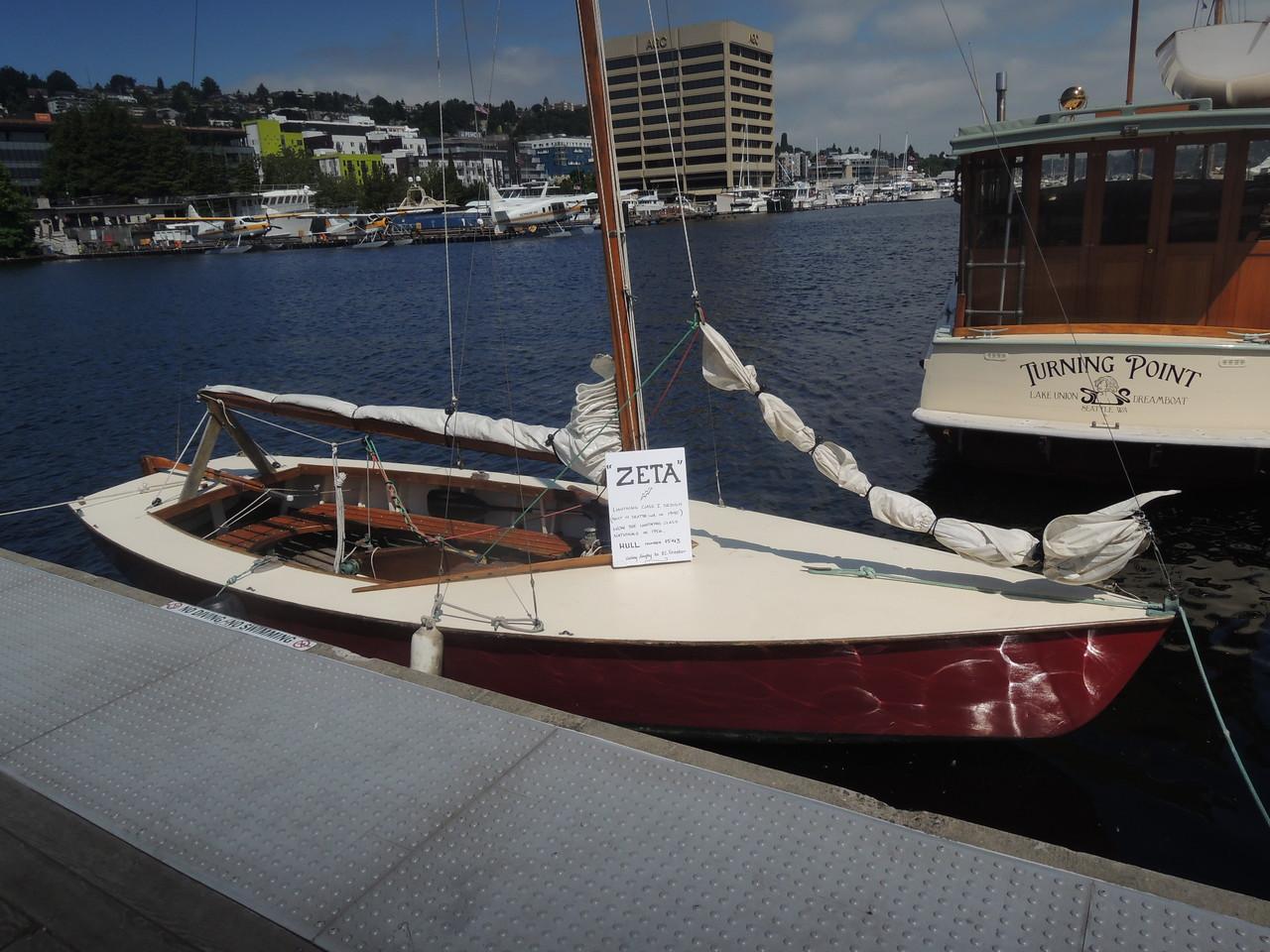 Lightning class sailboat.