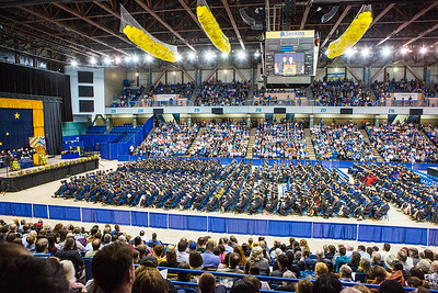 On the year of the unversity's 100th anniversary, students crossed the stage to receive a certificate or degree during the 95th comnencement ceremony Saturday, May 6, 2017, at the Carlson Center.