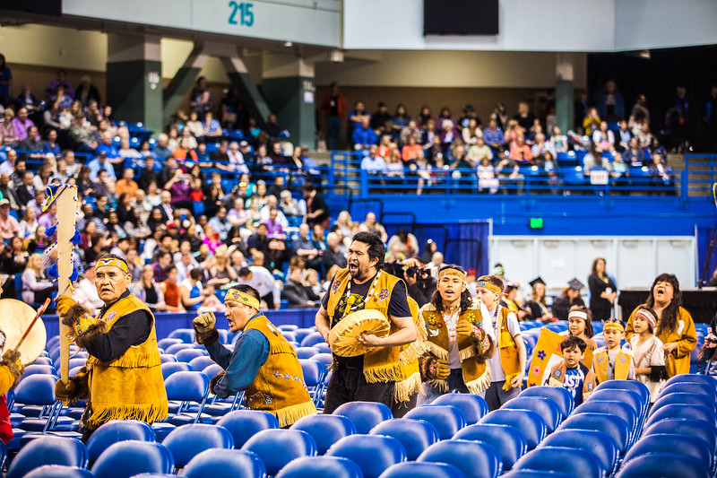 The Minto Dancers led the 2017 commencement ceremony's processional Saturday, May 6, at the Carlson Center.
