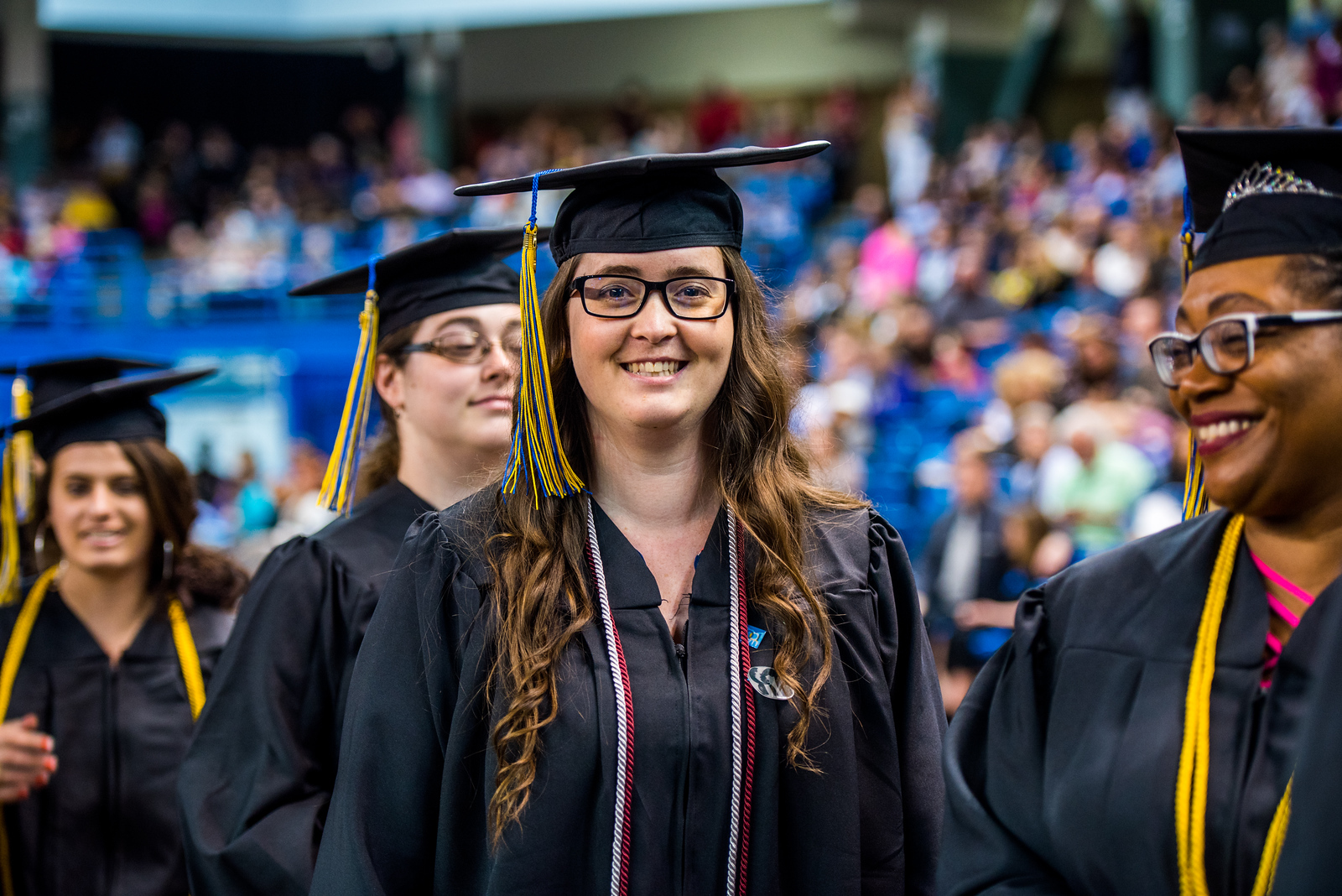 Shirley Morin poses for a picture during Commencement 2017.
