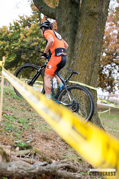 Cyclists came out to Memorial Park Saturday afternoon to ride the Cyclopath Cyclocross, jumping or running their bikes over burms and roots while ridding through the winding grass course.