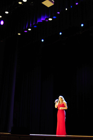2016 Distinguished Young Woman first runner up, Bailee Smoot of Neshannock High School performs a vocal presentation at Saturday night's show.