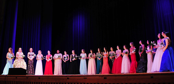 The 22 contestants for the Distinguished Young Woman Scholarship Program.