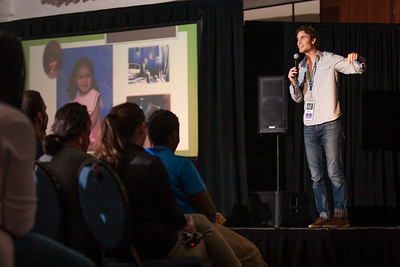 Evan Lemoine talks in revive track Friday night to the youth. The Eucharistic Congress brought  together Catholics from across the archdiocese and the country to celebrate the visible, living presence of Jesus in the Eucharist on Friday June 16 and Saturday June 17, 2017 at the Georgia International Convention Center in College Park.  Approximately 30,000 Catholics attended this annual spiritual and multicultural celebration.   This conference featured workshops presented on tracks in five languages:  English, Spanish, American Sign Language, Vietnamese, and French. Some of this year's speakers include Brandon Vogt, Deacon Harold Burke-Sivers, Dr. Gianna Molla, Father Larry Richards, Fr. Michael E. Gaitley, MIC and Sister Jane Dominic Laurel, O.P. (Photo by Thomas Spink)