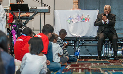 Archbishop Wilton Brings the Eucharistic Adoration to the Children/ kids Track Saturday to give a brief talk and sing praise and worship with the Catholic Children of Atlanta. The Eucharistic Congress brought  together Catholics from across the archdiocese and the country to celebrate the visible, living presence of Jesus in the Eucharist on Friday June 16 and Saturday June 17, 2017 at the Georgia International Convention Center in College Park.  Approximately 30,000 Catholics attended this annual spiritual and multicultural celebration.   This conference featured workshops presented on tracks in five languages:  English, Spanish, American Sign Language, Vietnamese, and French. Some of this year's speakers include Brandon Vogt, Deacon Harold Burke-Sivers, Dr. Gianna Molla, Father Larry Richards, Fr. Michael E. Gaitley, MIC and Sister Jane Dominic Laurel, O.P. (Photo by Thomas Spink)