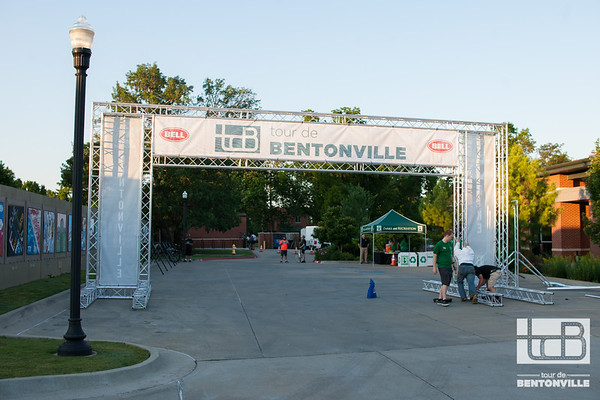 Cyclists gathered at the Downtown Community Center for the inaugural Tour de Bentonville, tackling hills while riding either 20 or 50 miles.