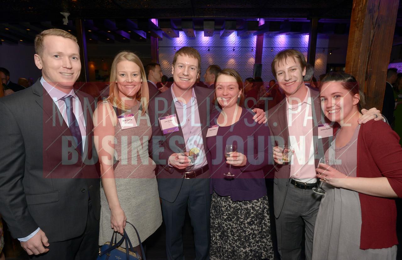 From left, Paul Magnan, Heidi Cerling, 2017 40 Under 40 honoree Joel Barker of Fraser and Emily Barker, Andrew Barker and Lauren Barker.