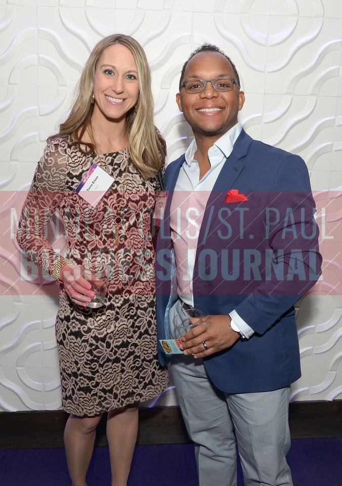 2017 40 Under 40 honoree Jashan Eison of HB Elevators with Terra Eison.