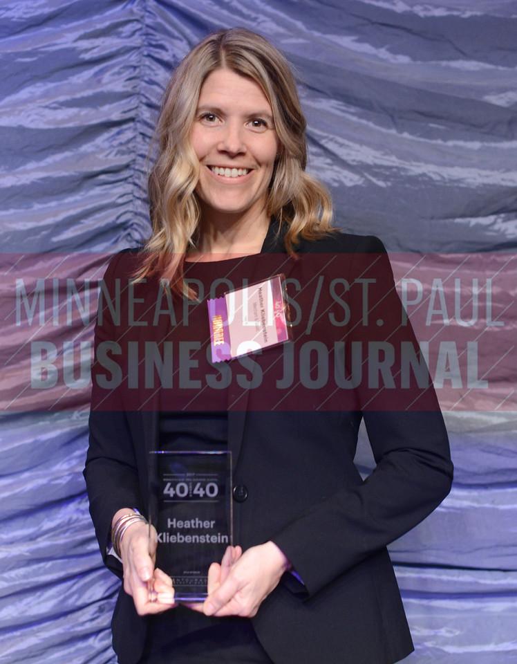 2017 40 Under 40 honoree Heather Kliebenstein of Merchant & Gould