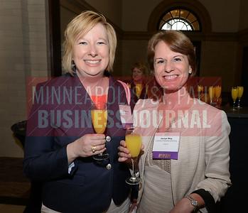 2017 Women in Business award winners Ann Rainhart (left) and Jaclyn May.