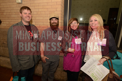 From left, Aaron Meyerring, Rob Bonvallet and  2017 Women in Business honorees Sarah Bonvallet and Stephanie Meyerring.