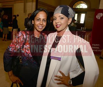 Priya Morioka and 2017 Women in Business award winner Khadija Ali.