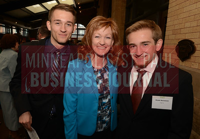 2017 Women in Business honoree Lisa Sorenson with her sons Parket (left) and Grant.